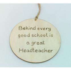 Headteacher Plaque
