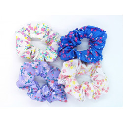 Set of 4 Floral Scrunchies