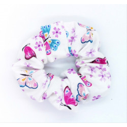White Butterfly Scrunchie