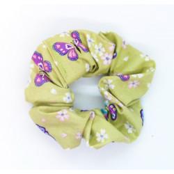 Green Butterfly Scrunchie