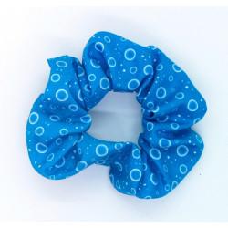 Blue Bubble Scrunchie