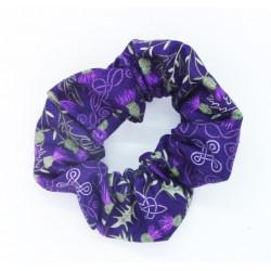 Purple Thistle Scrunchie