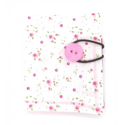 White and Pink Ditsy Floral...