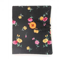 Black Floral Sachet Wallet