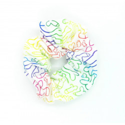 Rainbow Cockadoodle Scrunchie