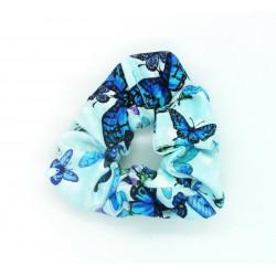 Blue Butterfly Scrunchie