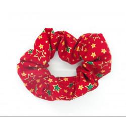 Christmas Red Stars Scrunchie