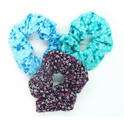 Set of 3 Floral Scrunchies