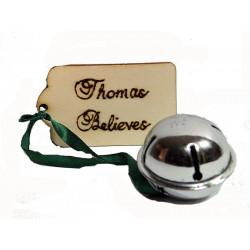 Personalised Believe Bell