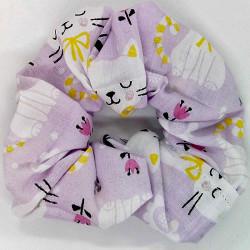 Lilac Cat Scrunchie