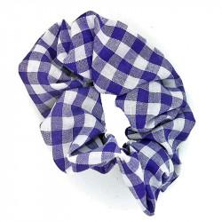Purple Gingham Scrunchie