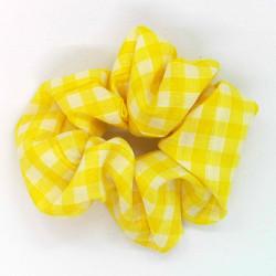 Yellow Gingham Scrunchie