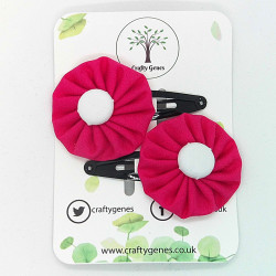 Hot Pink Hair Clips