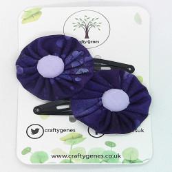 Purple Splat Hair Clips