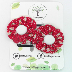 Red Floral Hair Clips
