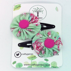 Green & Pink Tea Party Hair...