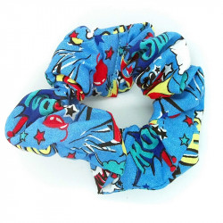 Comic Blue Hair Scrunchie