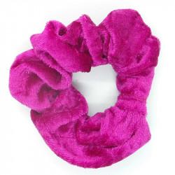 Cerise Velvet Hair Scrunchie