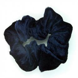 Navy Velvet Hair Scrunchie
