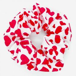 Red Heart Hair Scrunchie