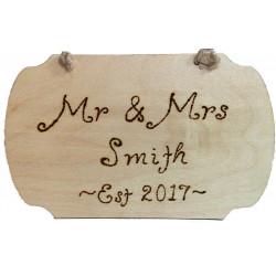 Personalised Wedding Plaque
